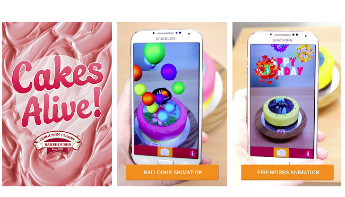 Get your app - and watch the Melbourne Day cupcake burst alive