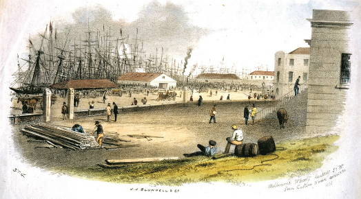 View of Enterprize Park from Old Customs House in 1858