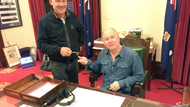 3AW's Ross and John broadcasting live from the Lord Mayor's chambers on Melbourne Day