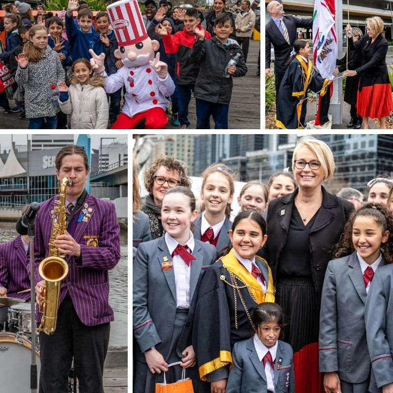 Melbourne Day flag raising ceremony photos