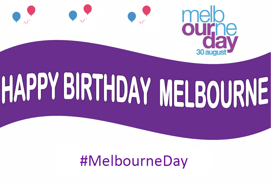 Melbourne Day Happy Birthday Selfie Poster