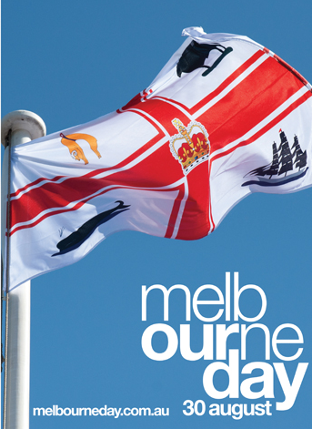 Melbourne Day flag at Enterprize Park