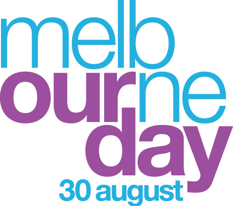 Melbourne Day logo stacked purple