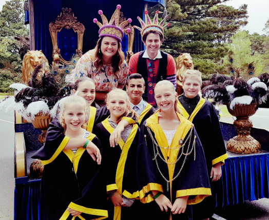 Junior Lord Mayor 2017 finalists at the Moomba Parade