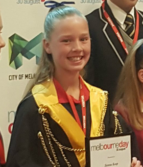 Sienna Koop, 2017 Junior Lord Mayor