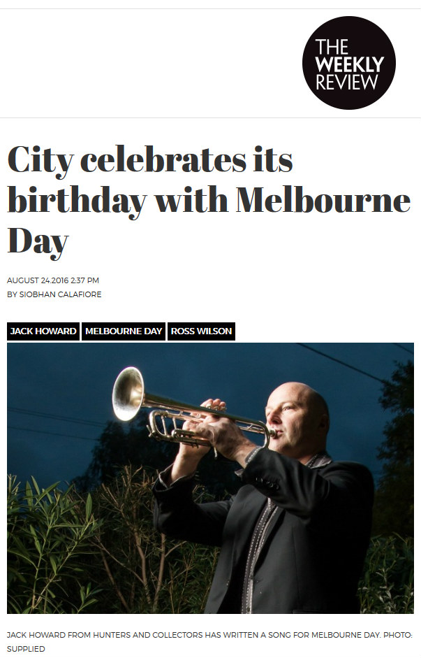 Melbourne Day coverage in Weekly Review