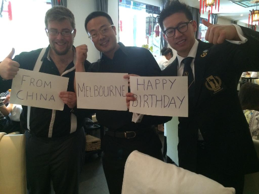 From Beijing, China, Melbourne Day wishes