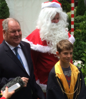Santa, Mason Dwyer and Robert Doyle